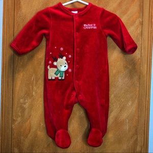 Little Me 1st Christmas Outfit Size 3 Months